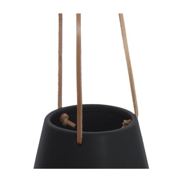 Czarna wisząca doniczka PT LIVING Skittle, ⌀ 12,2 cm