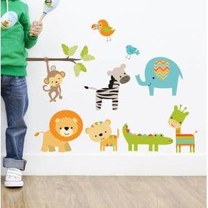 Naklejka dekoracyjna na ścianę Color Animals