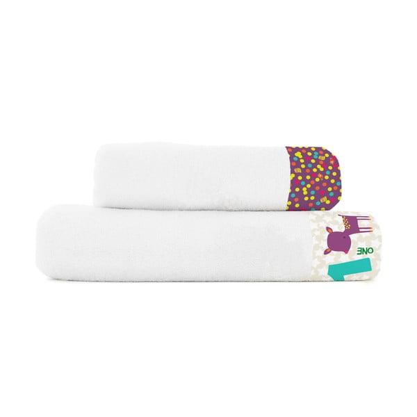 Zestaw 2 ręczników Baleno Forest Friend, 50x100 i 70x140 cm