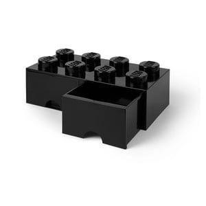 Czarny pojemnik z 2 szufladkami LEGO®