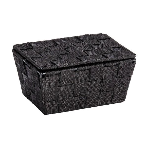 Czarny koszyk zamykany Wenko Adria