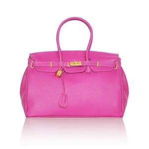 Skórzana torebka Emdo, różowa