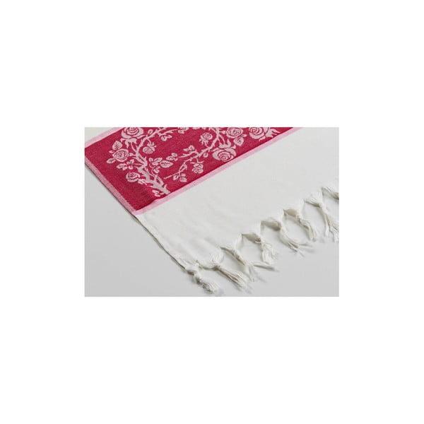 Ręcznik hamam Platin Red, 100x180 cm