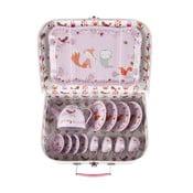 Różowy dziecięcy kuferek piknikowy Sass & Belle Woodland Friends