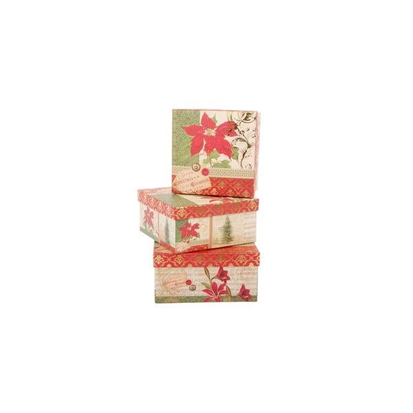 Zestaw 3 pudełek Christmas Rose