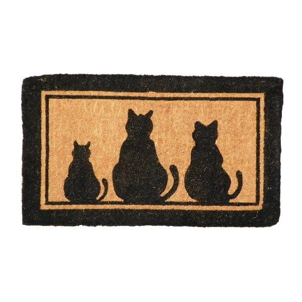 Wycieraczka Three Cats, 75x45 cm