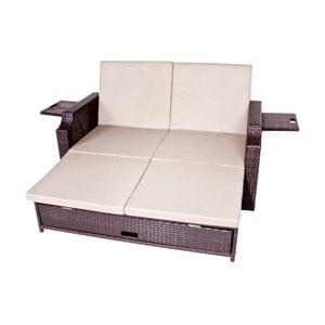 Ogrodowa sofa rozkładana ze schowkiem ADDU Monaco