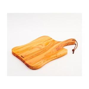 Deska do krojenia z drewna oliwnego Rustic, 41x25 cm