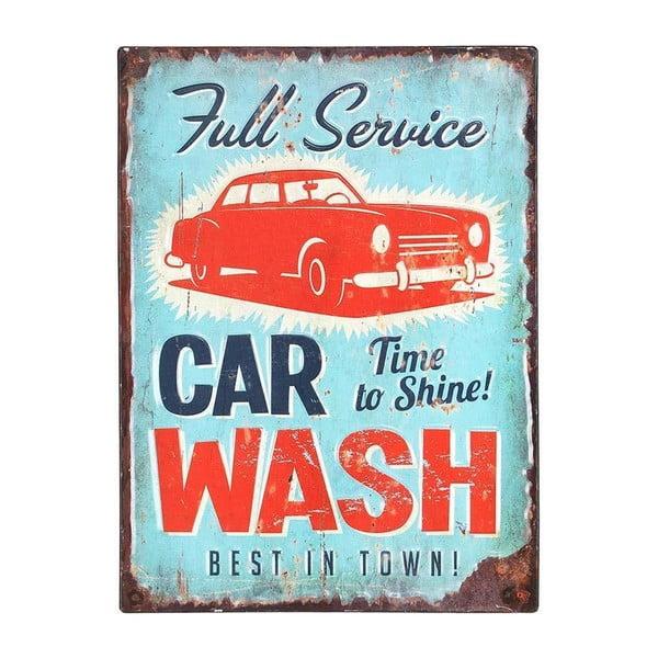 Metalowy obraz Car Wash