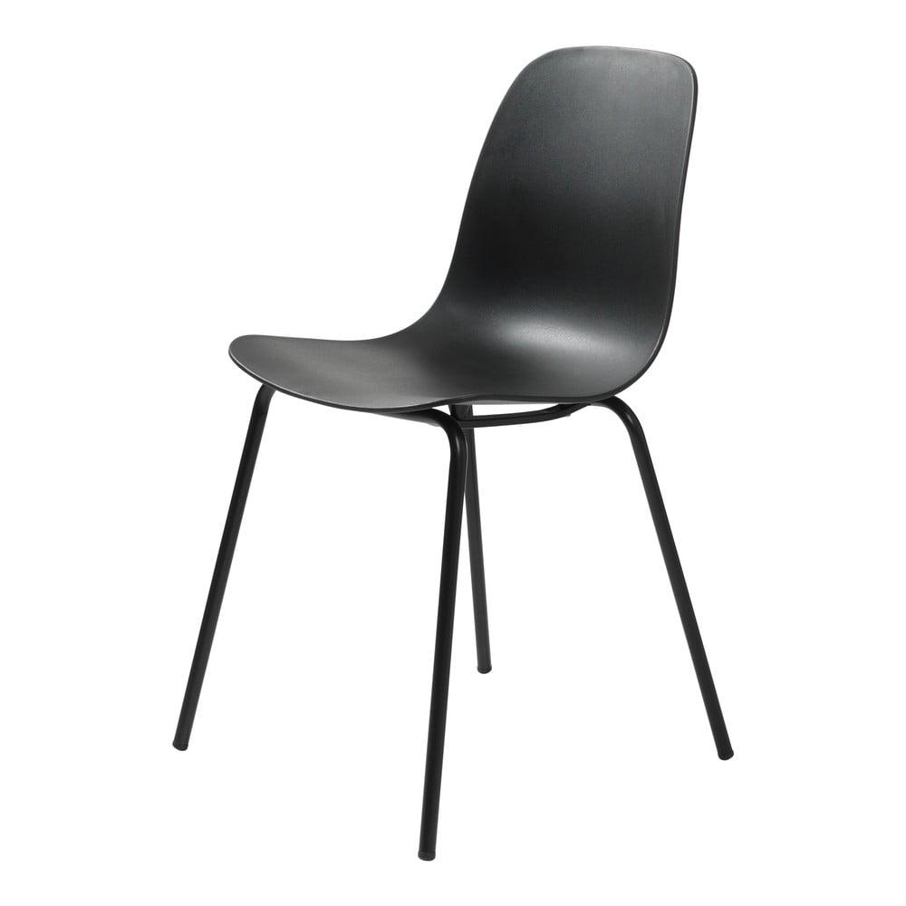 Zestaw 2 czarnych krzeseł Unique Furniture Whitby