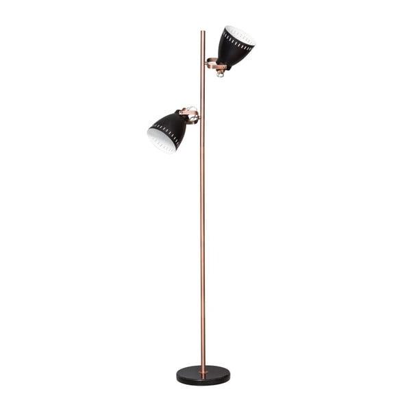 Czarno-miedziana lampa stojąca ETH Acate Jay