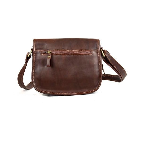 Skórzana torebka Santo Croce M6806 Dark Brown