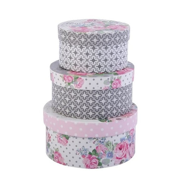 Zestaw 3 pudełek Les Fleurs