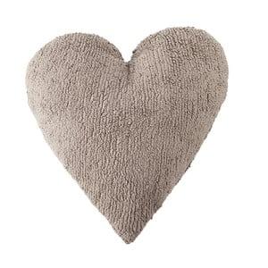Beżowa poduszka bawełniana wykonana ręcznie Lorena Canals Heart, 47x50 cm
