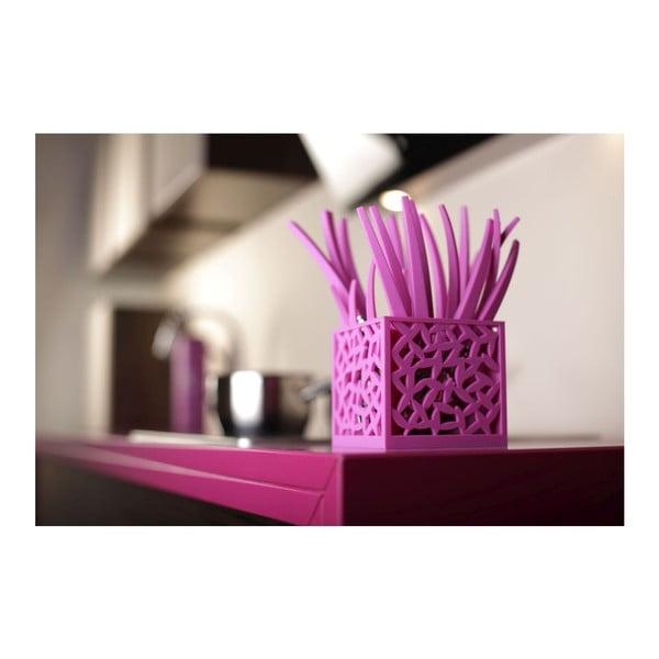 Zestaw 24 fioletowych sztućców Vialli Design Mia