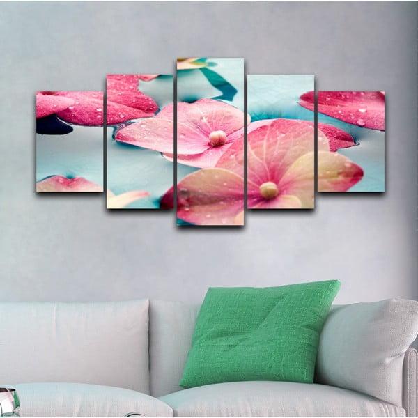 Pięcioczęściowy obraz Piękno kwiatów