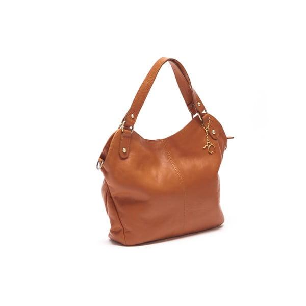 Skórzana torebka Renata Corsi 2114 Cognac