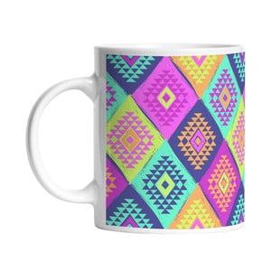 Ceramiczny kubek Colorful Triangels, 330 ml