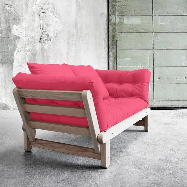 Sofa rozkładana Beat Beech/Magenta
