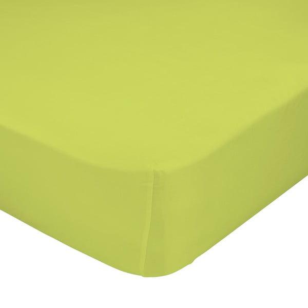 Zielone prześcieradło elastyczne Happynois, 70x140 cm