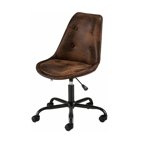 Brązowy fotel biurowy na kółkach Støraa Dennis