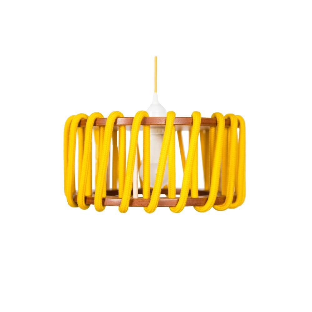 Żółta lampa wisząca EMKO Macaron, ø 30 cm
