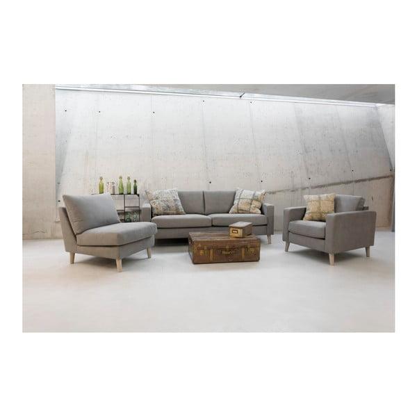 Ciemnobrązowa sofa 3-osobowa z czarnymi nogami Vivonita Tom