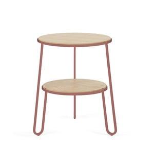 Stolik z różową metalową konstrukcją HARTÔ Anatole, ⌀ 40cm