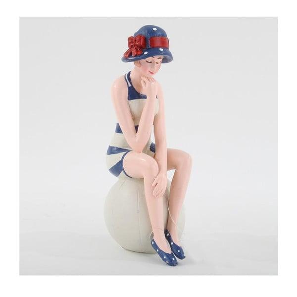 Figurka dekoracyjna Pani w prążkowanym stroju kąpielowym