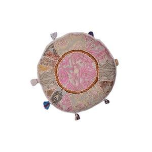 Ręcznie wyszywany puf Suelo, 40 cm