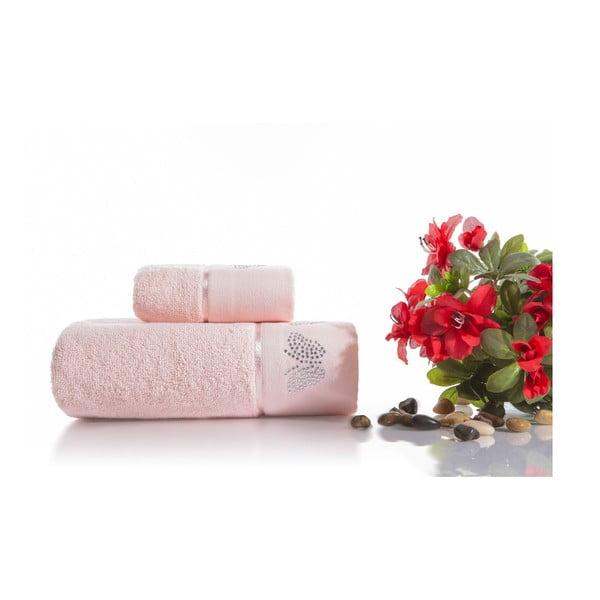 Zestaw 2 ręczników Lotus V1, 30x50 cm + 50x90 cm