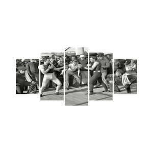 Wieloczęściowy obraz Black&White no. 88, 100x50 cm