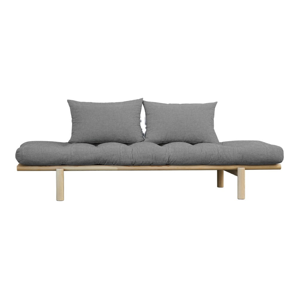 Sofa z jasnoszarym pokryciem Karup Design Pace Natural/Granite Grey