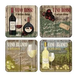 Zestaw 4 podstawek Vino