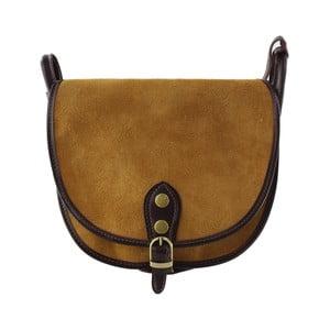 Skórzana torebka przez ramię Gina, brązowa