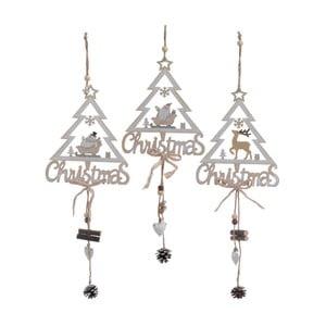 Zestaw 3 dekoracji wiszących InArt Tree