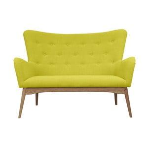 Żółta sofa dwuosobowa Helga Interiors Karl