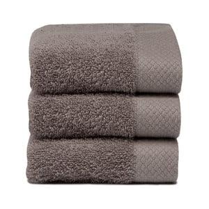 Komplet   3 ręczników Pure Cement, 30x50 cm