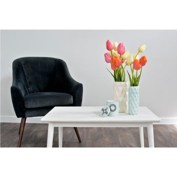 Biało-miętowy wazon Hawke&Thorn, wysokość 22 cm