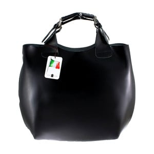 Czarna torba skórzana Chicca Borse Sofia