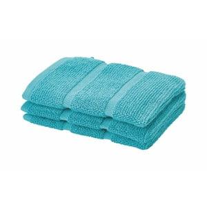 Turkusowy ręcznik do twarzy Aquanova Adagio 16x22 cm
