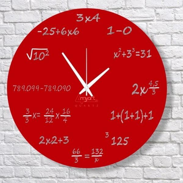 Zegar ścienny Red Maths