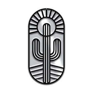 Czarna dekoracja ścienna Dekorjinal Pouff Cactus, 66x31cm