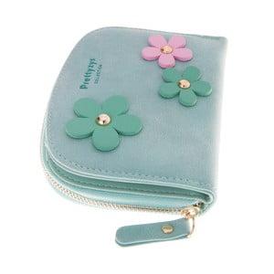 Mały portfel Wildflowers, zielony