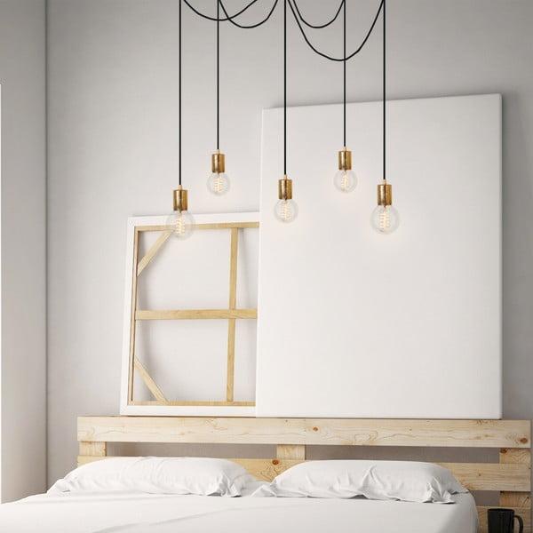 Lampa wisząca Cero, 5 rozłożystych kabli, srebrny/czarny/srebrny