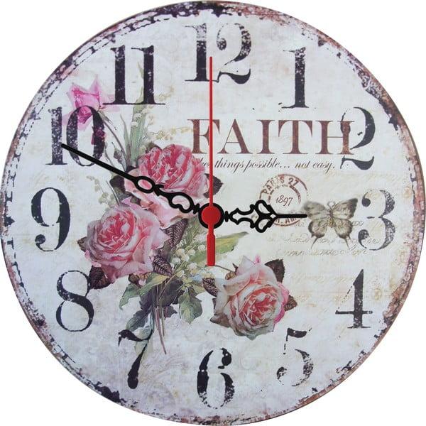 Zegar ścienny Faith, 30 cm