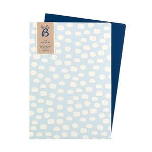 Zestaw 2 niebieskich teczek na dokumenty Busy B