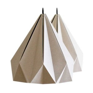 Lampa wisząca Origamica Spring Light For Two Elegant Grey