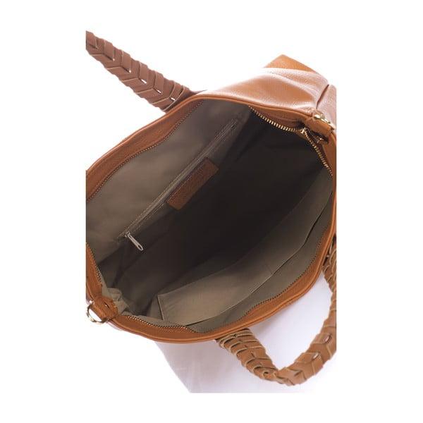 Koniakowo-brązowa torebka skórzana Lisa Minardi Elisa