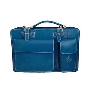 Skórzana torba Dolcetto, niebieska